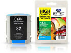 Remanufactured Jettec HP82 Cyan Ink Cartridge for Designjet Printers