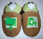 Moxiesbabyshoes FROG soft soled leather boys baby shoes infant ALL SIZES