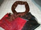 Scarf  Brown or Black  Glitter Effect  New    Made In India