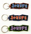 Boys name keyrings - names J-W - key ring - various names and colours available