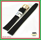 16mm BLACK Lizard Grain Leather Watch Strap, Extra Long, L8, Very Popular Strap