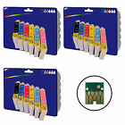 3 Sets of non-original Printer Ink Cartridges for Epson E0801-E0806 Range