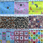 VINYL WATERPROOF OIL CLOTH TABLECLOTH MARINE UPHOLSTERY FABRIC ROSE PATCH PRINT