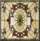 Light Switch Plate Cover - Art Nouveau - Stained Glass Pattern 01 Home Decor
