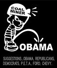 Coal Miner Calvin Boy Peeing on Obama Car Decal custom vinyl sticker graphic