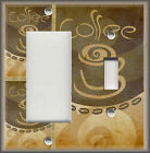 Light Switch Plate Cover - Modern Cafe Coffee - Kitchen Decor