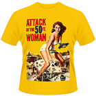 ATTACK OF THE 50 FT FOOT WOMAN Classic Vintage Film Poster T-SHIRT Allison Hayes