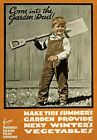 WA94 Vintage Come In to The Garden Dad Grow Your Own WWI War Poster A4