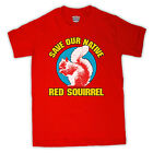 SAVE THE RED SQUIRREL BRITISH WILDLIFE T SHIRT ALL COLOURS & SIZES