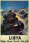 WB5 Vintage WW2 Libya British Tank WWII World War Poster Re-Print A4