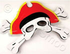 New - 1 or 6 EVA Foam Pirate Masks – Party Bag/Loot Filler