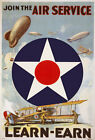 W55 Vintage WWI Join The Air Service US War Poster Print WW1 - A1 A2 A3