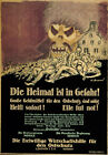 WA48 Vintage WWI German Anti-Communist Investment War Poster Print WW1 A1 A2 A3