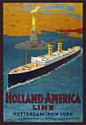 TW74 Vintage Holland America Line Cruise Ship Travel Poster Re-Print A1/A2/A3