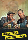 2W54 Vintage WWII Don't Be A Dope Loose Talk Cost Lives War Poster WW2 A1 A2 A3
