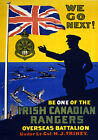WA61 Vintage WWI Irish Canadian Rangers Recruitment War Poster WW1 A1 A2 A3