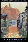 TT69 Vintage Luxembourg Railways Travel Poster A3/A2 Re-print