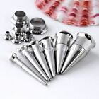 3-10mm Mixed Spike Taper Tube 2 in 1 Screw Ear Tunnel Expander Set Piercing Kits