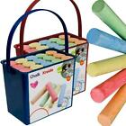 Childrens 15 Piece Massive Jumbo Multi Coloured Chalk Set With Hanging Basket
