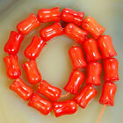 6X9mm Flower Shape Red Coral Gemstone Beads 22PCS Pick Color