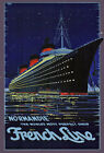 TT36 Vintage French France Normandy Cruise Ship Travel Poster Re-Print A4