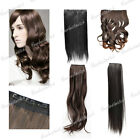 Synthetic Fiber Straight Curly New Half Head Clip in Hair Extension Hairpiece