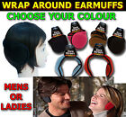 NEW MENS LADIES UNISEX SOFT FLEECE WRAP AROUND ADJUSTABLE EARMUFFS EAR MUFFS SKI