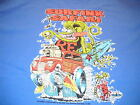 Rat Fink Surfink Safari Ford Woodie Hot Rod Surfboard Ed Roth blue t shirt tee