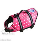 Pink Polka Dot Dog Life Preserver Jacket Water Safety Flotation Vest