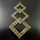 76*41*2mm Vintage Bronze Tone Alloy Connected Rhombus Pendant  Finding Hot 36172
