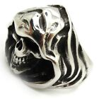 anchorite wizard nightwing skull men's silver ring 316L Stainless Steel