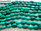 Stabilized Turquoise Gemstone Oval Beads 16'' Strand 6mm 8mm 10mm 12mm 14mm 16mm