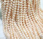"""Genuine Natural Pink Freshwater Pearl Gems Roundle Loose Beads 15""""AAA"""