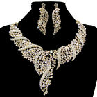 Shining Luxury Women Marvelous Wedding Party Cocktail necklace earrings jewelry