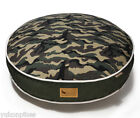 Camouflage Natural Cotton & Eco-Friendly Polyfill Dog Bed - Green S / M / L