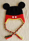 Handmade Crochet  Mickey Mouse Hat  *You Choose Size* Photo Prop*