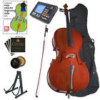CECILIO FULL SIZE 4 4 ACOUSTIC CELLO STUDENT w TUNER, LESSON BOOK 4 4CCO-100