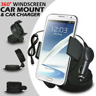 360° WINDSCREEN MINI CAR MOUNT HOLDER & CAR CHARGER FOR VARIOUS MOBILE PHONES