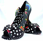 IRON FIST LADIE'S SOCIETY SUICIDE SHOES UK 3 4 5 7 POLKA DOT BOWS SALE SALE SALE