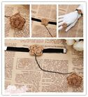 Elegant Belly Dance Lace Gothic Ring Bracelet Wrist Cuffs Bangle Bridal Jewelry