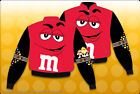 M&M's Candy Red Black Jacket Youth Kids Size 9-12 Jacket Coat JH Design