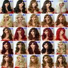 Wig Natural Long Curly Wavy Brown Blonde Black Women Fashion Ladies Full WIG A