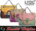 Ladies LYDC Celebrity Block Color Leather Style Tassel Stud Tote Satchel Handbag