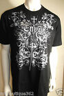 GUESS MENS BLACK CREW NECK GRAPHIC T SHIRT FRONT LOGO NEW NWT