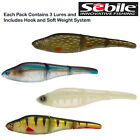 SEBILE MAGIC SWIMMER SOFT LURES 13cm 19g PIKE FISHING NEW CHOOSE COLOUR