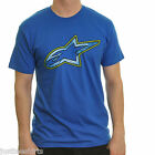 ALPINESTARS cotton t shirt ~ Tech  (blue)   {Size L}