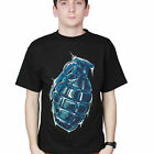 GRENADE cotton t-shirt - Iced  {Size M}
