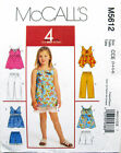McCall's 5612 OOP Sewing Pattern to MAKE Girls' Top Shorts Capri Age 6-8