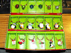 Pier 1 Imports Wine Glass Drink Charms Holiday Theme Set of 6 New