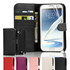 Flip Wallet Leather Case Cover For Samsung Galaxy Note 2 N7100 &Screen Protector